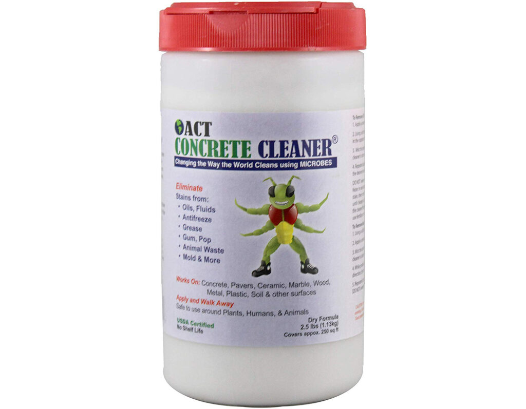 1. ACT Microbial Concrete Cleaner